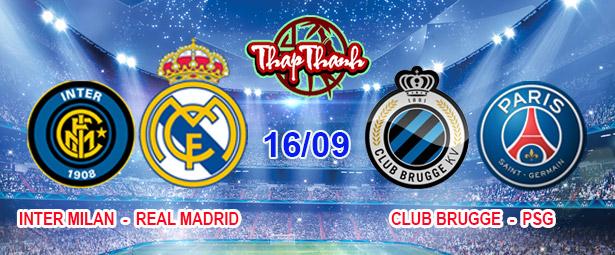 Dự đoán Champions League: Inter Milan vs Real Madrid; Liverpool vs AC Milan; Club Brugge vs PSG (2h 16/09)