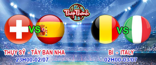 Dự đoán cùng Thapthanh Tứ kết Euro 2020: Thụy Sỹ vs Tây Ban Nha 23h ngày 02/07 và Bỉ vs Italia 2h ngày 03/07