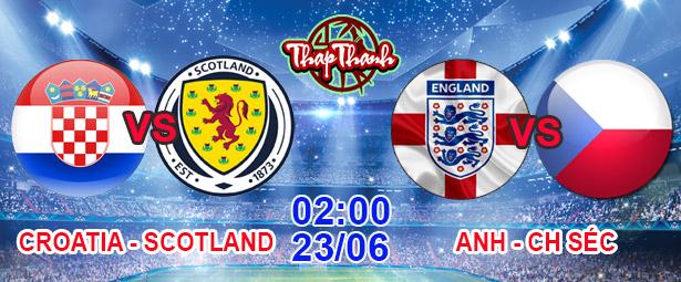 Dự đoán Euro cùng Thapthanh: Anh vs CH Séc và Croatia vs Scotland 02h00 ngày 23/06