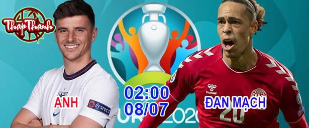 Dự đoán bán kết Euro 2020: Anh vs Đan Mạch 2h ngày 08/07