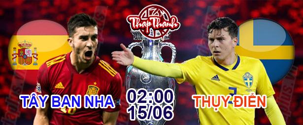 Chắn Thapthanh.com: Dự đoán Euro 2021 Tây Ban Nha đấu Thụy Điển (2h ngày 15/06)