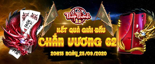 Chúc mừng chắn thủ Mavinhtrinh1980 vô địch giải đấu Chắn Vương 62