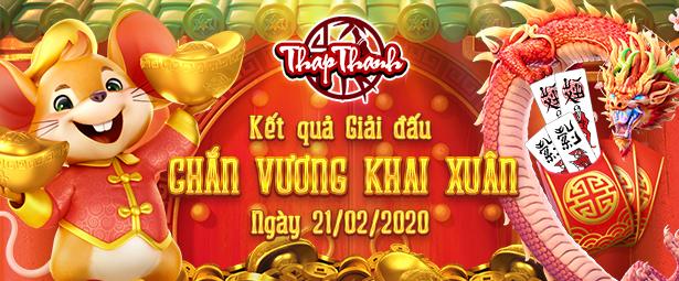 Chúc mừng chắn thủ Sayruousaychan vô địch giải đấu Chắn Vương Khai Xuân 2020