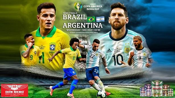 Dự đoán bóng đá Brazil vs Argentina, 07h30 ngày 03/07