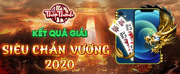 Chúc mừng chắn thủ bienxanh8x giành chức vô địch Siêu Chắn Vương 2020